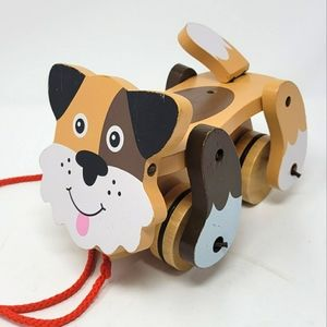 Melissa and Doug Wooden Pull Along Animated Puppy Dog Toy